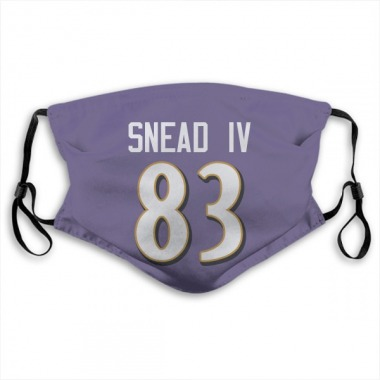Baltimore Ravens Willie Snead IV Jersey Name and Number Face Mask - Purple