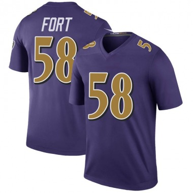 Men's Nike Baltimore Ravens L.J. Fort Color Rush Jersey - Purple Legend