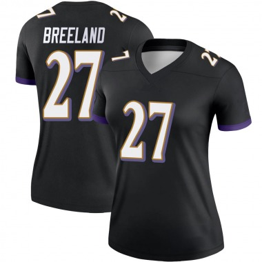 Women's Nike Baltimore Ravens Jacob Breeland Jersey - Black Legend