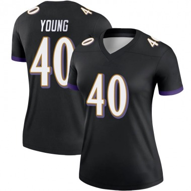 Women's Nike Baltimore Ravens Kenny Young Jersey - Black Legend