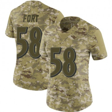 Women's Nike Baltimore Ravens L.J. Fort 2018 Salute to Service Jersey - Camo Limited