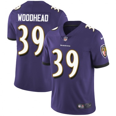 Youth Nike Baltimore Ravens Danny Woodhead Team Color Jersey - Purple Limited