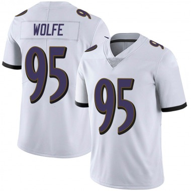 Youth Nike Baltimore Ravens Derek Wolfe Vapor Untouchable Jersey - White Limited