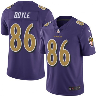 Youth Nike Baltimore Ravens Nick Boyle Color Rush Jersey - Purple Limited