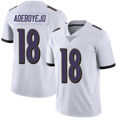 Youth Nike Baltimore Ravens Quincy Adeboyejo Vapor Untouchable Jersey - White Limited
