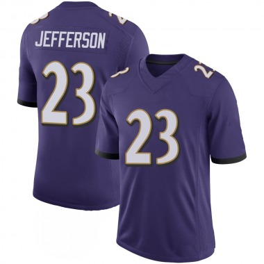Youth Nike Baltimore Ravens Tony Jefferson 100th Vapor Jersey - Purple Limited