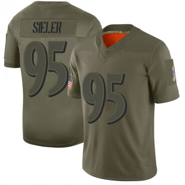 Youth Nike Baltimore Ravens Zach Sieler 2019 Salute to Service Jersey - Camo Limited
